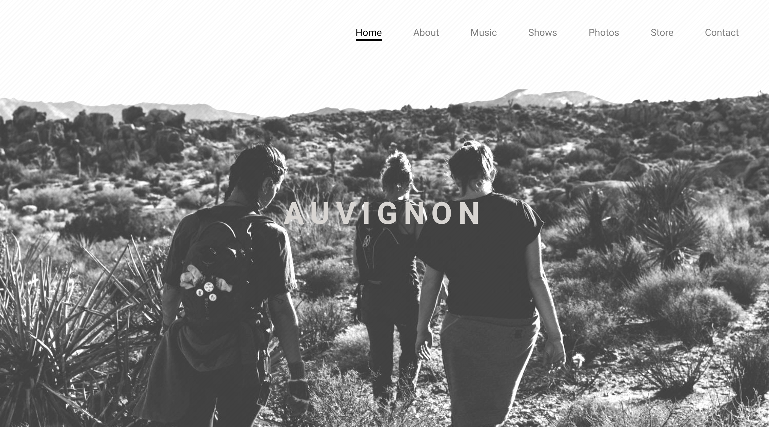 Prismatic music website template variation