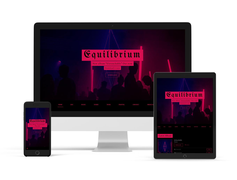 Billboard musician website theme variant - Bandzoogle