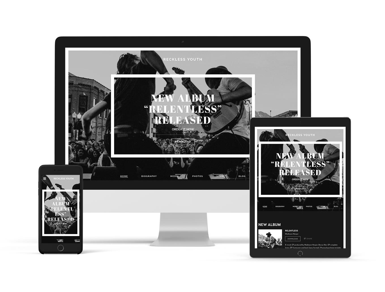 Resonance musician website theme variant - Bandzoogle