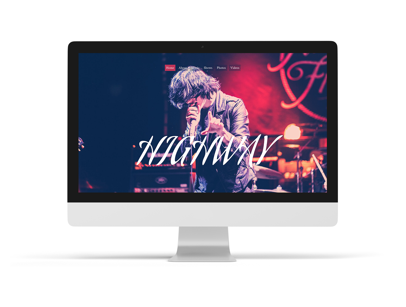 Surround musician website theme variant - Bandzoogle