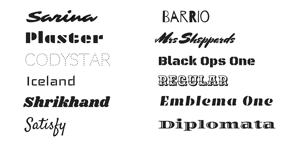 New fonts available from Bandzoogle