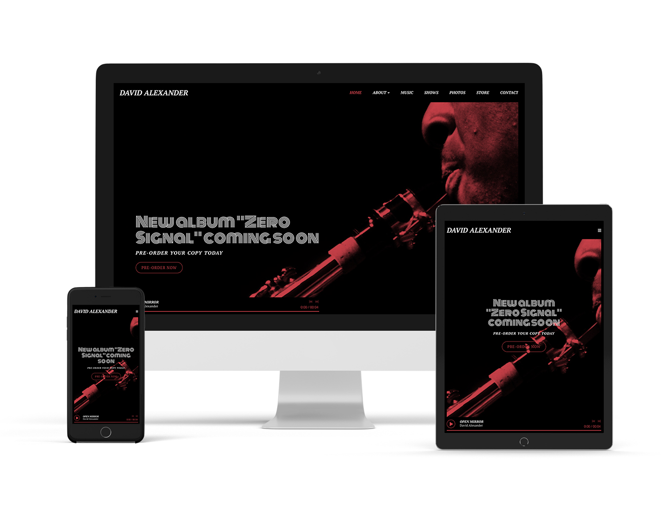 New website theme: Anthem - Sombre variation