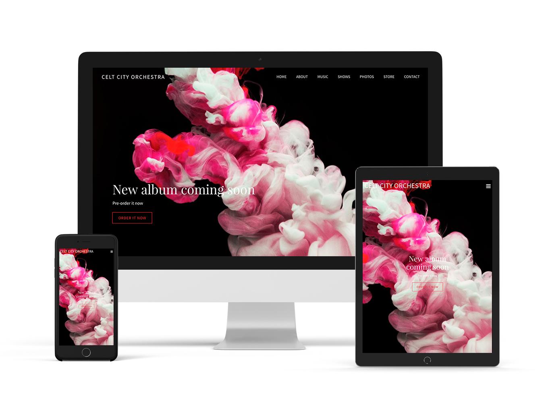 Elegant variation of Forte website template