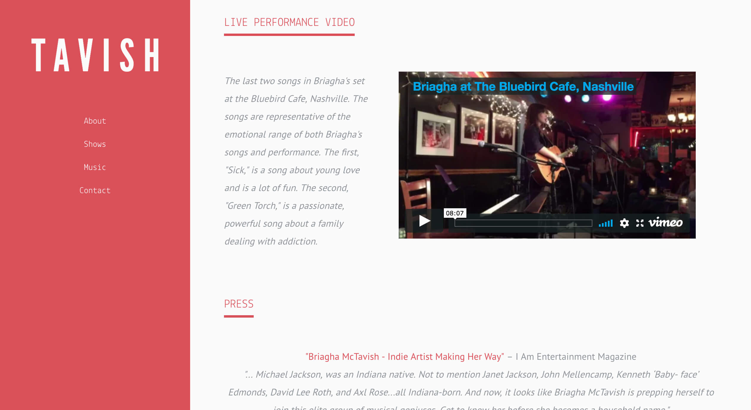 Example EPK - Create an EPK for your Music