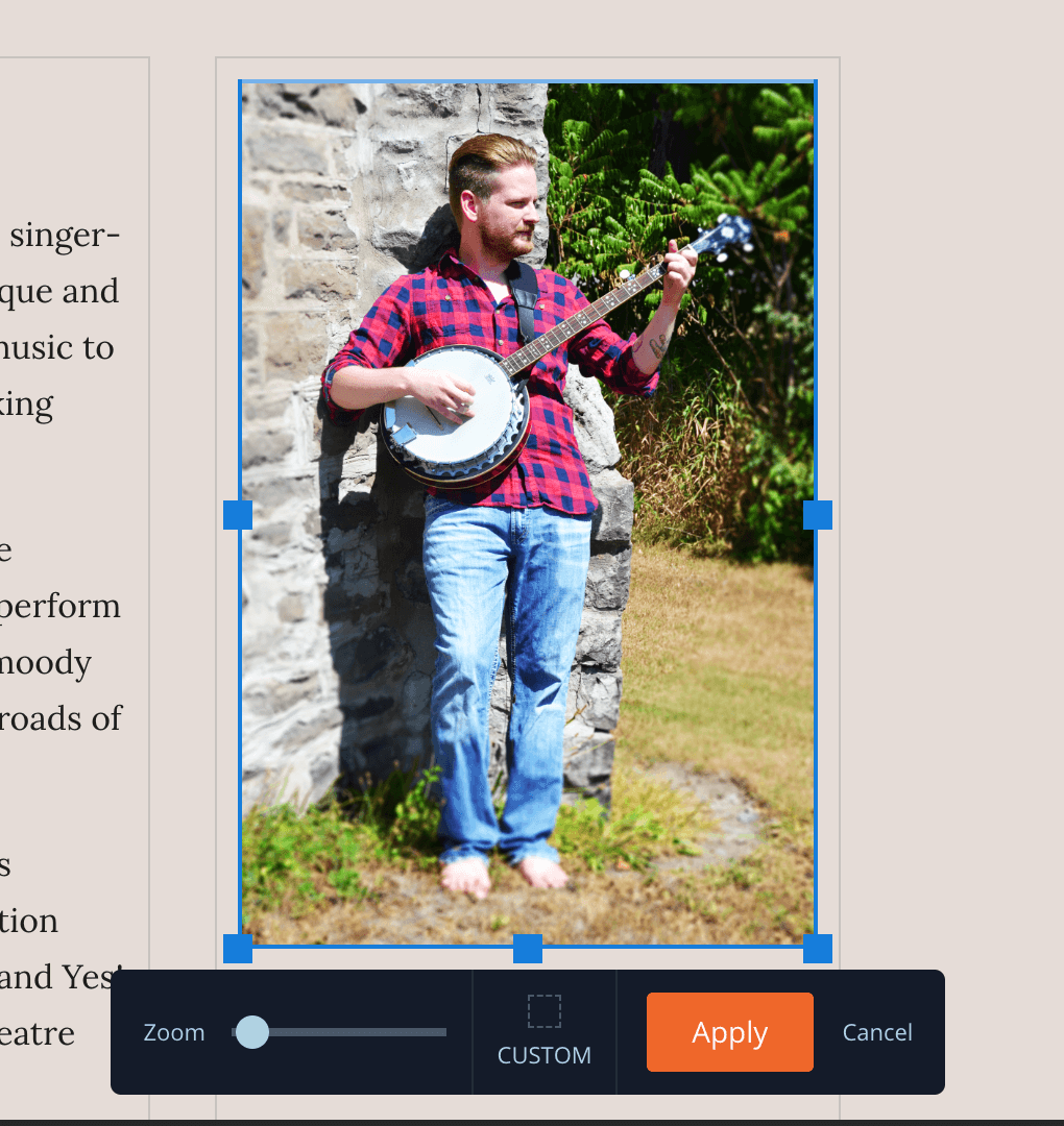 New: Preset image ratios and shapes for your music website