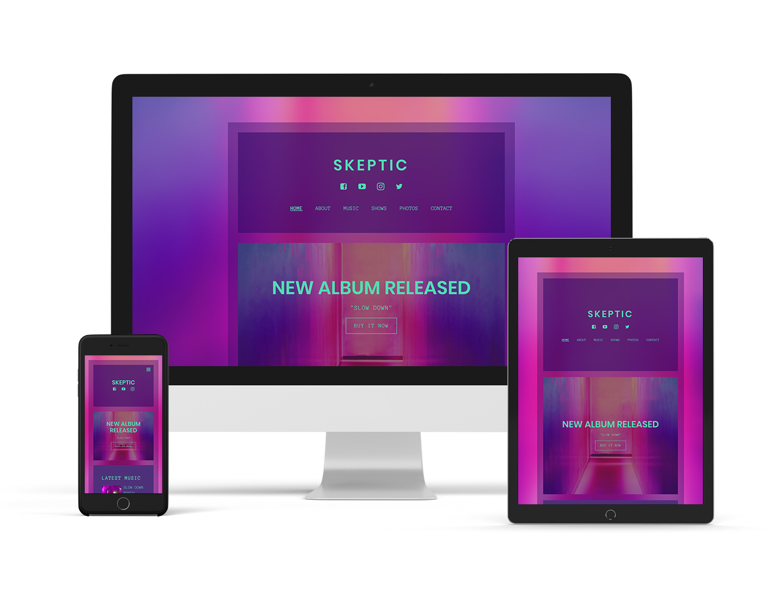 Echo website template Sombre version
