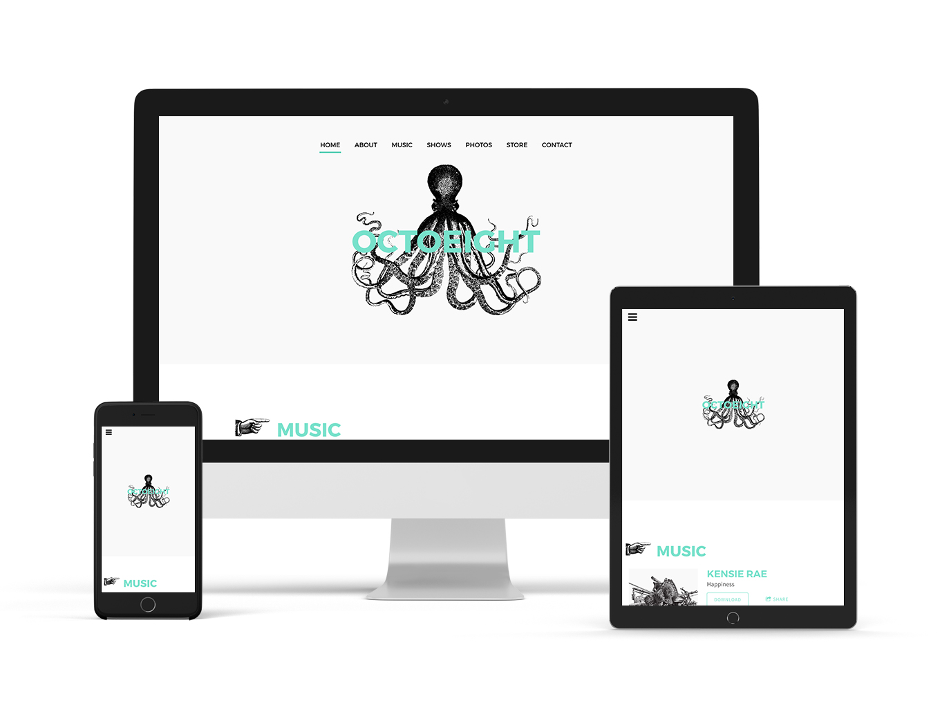 Music website template Record Label