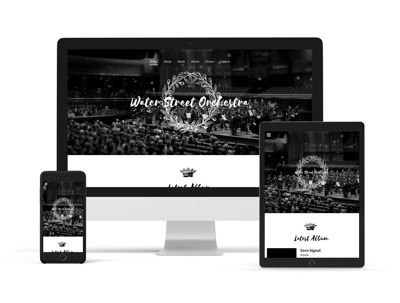 Orchestra website template Motiv