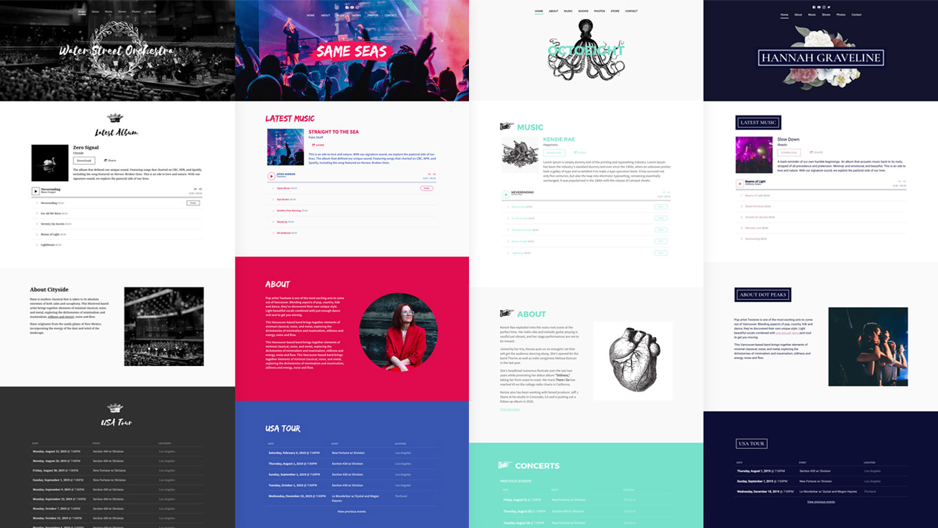 New Website Template Motiv