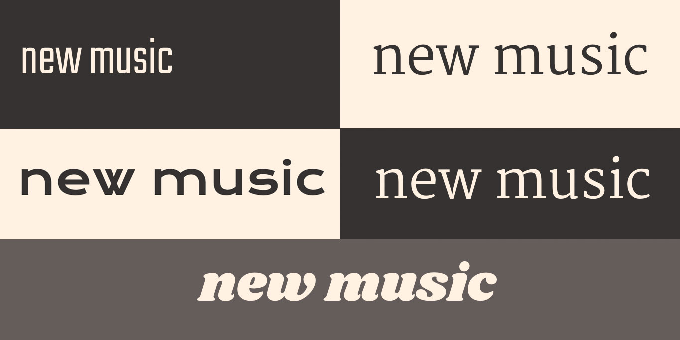 Music website font choices