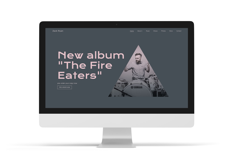 Music website template design Limelight