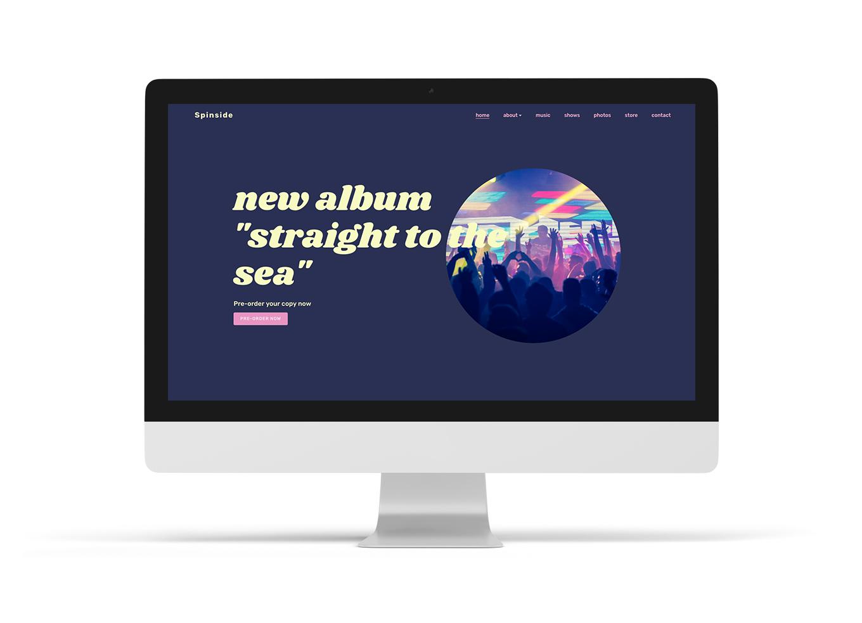 Music web design option Playful
