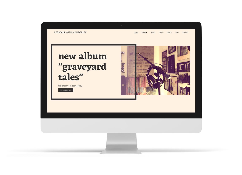 Music website design template elegant