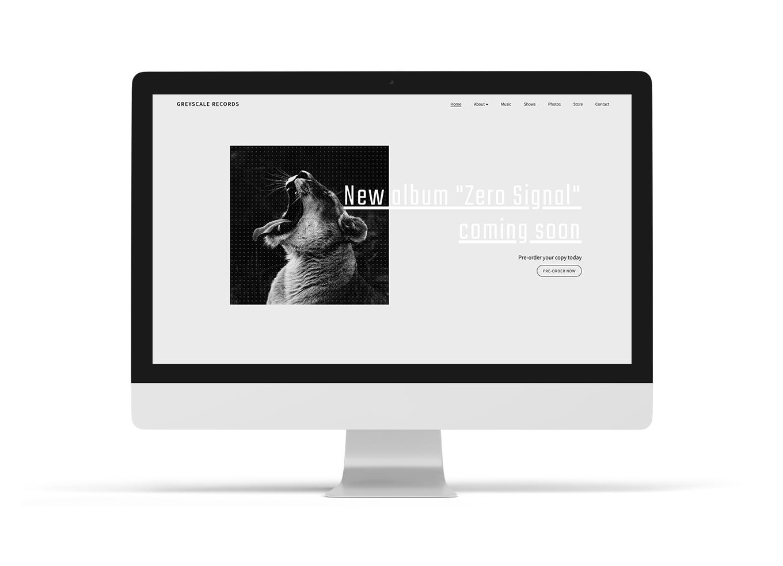 Music website design template neutral