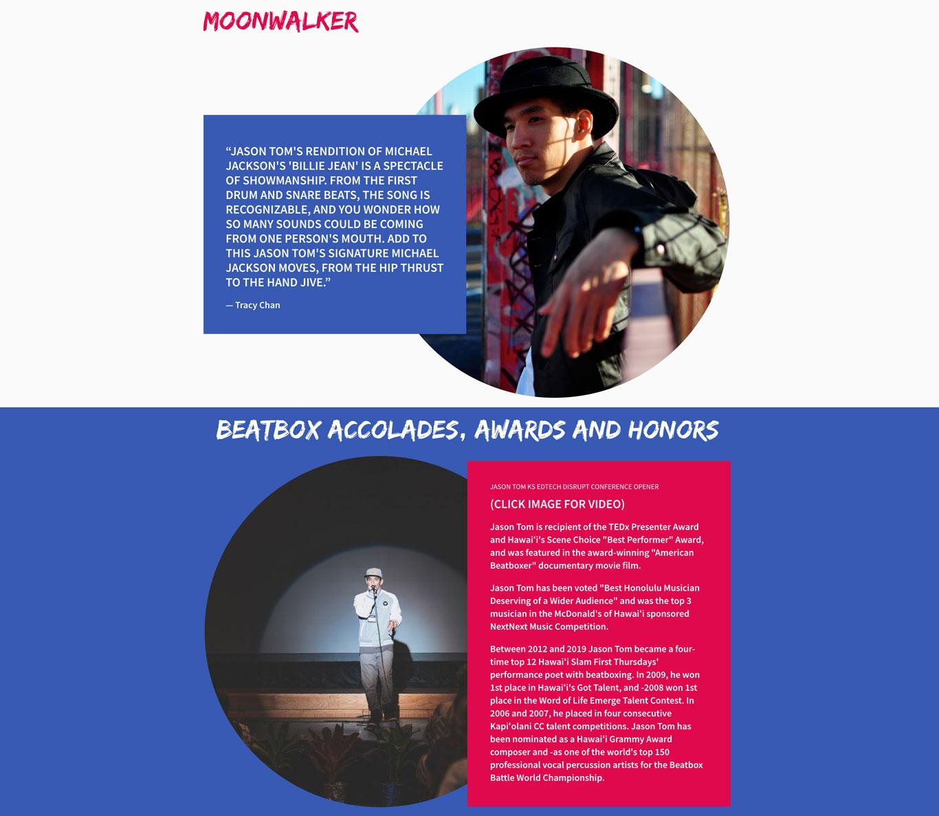 Musician Website Example