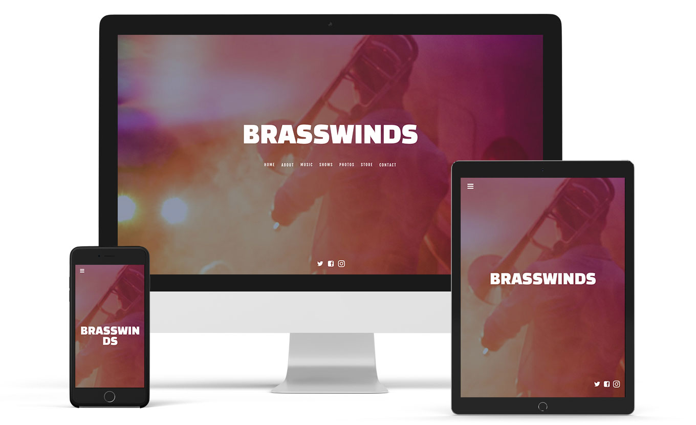 Music website template for a jazz artist