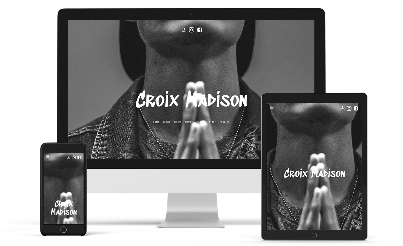 Music website template for a DJ