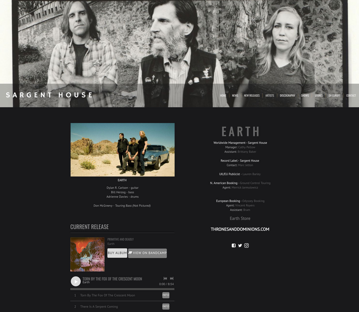 Sargent House Record Label Website