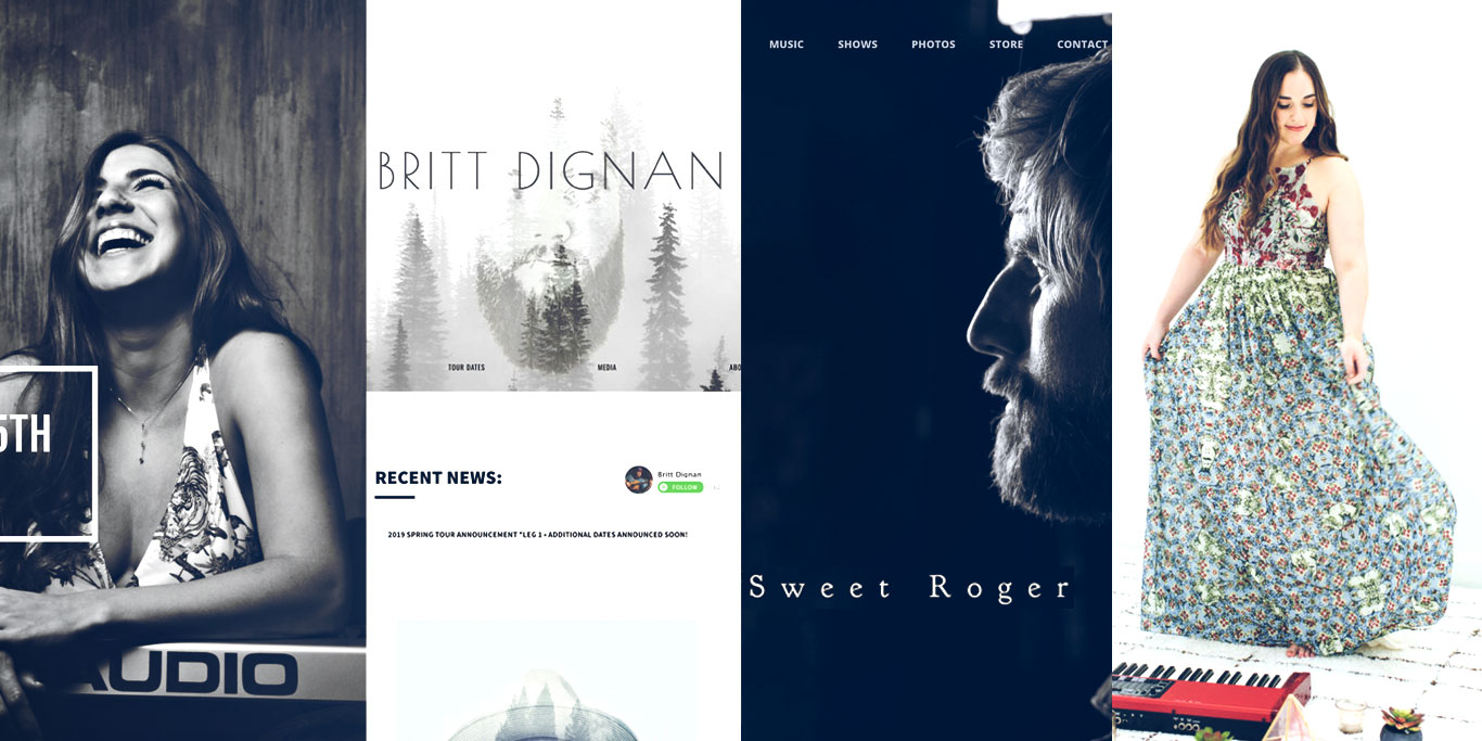 How to design a great singer songwriter website