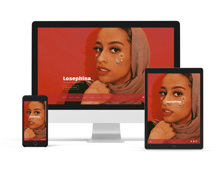 Music website template singer songwriter