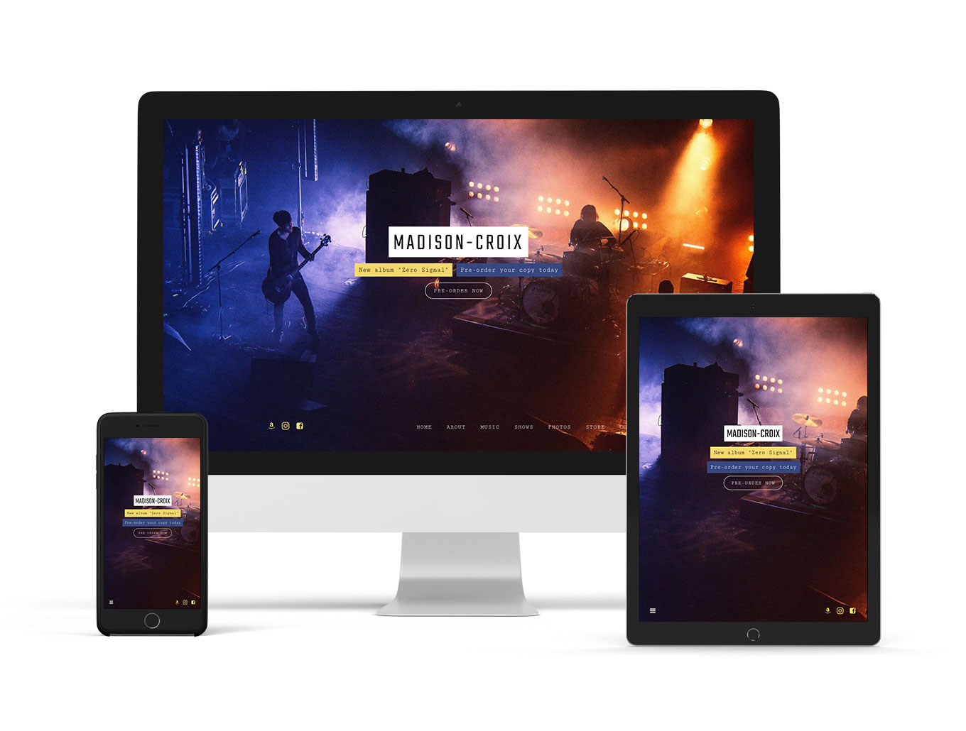 Music website template playful example