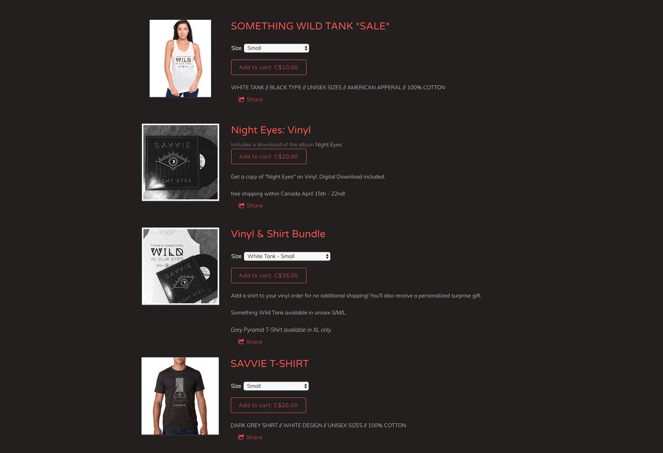 Example Website Merch Store