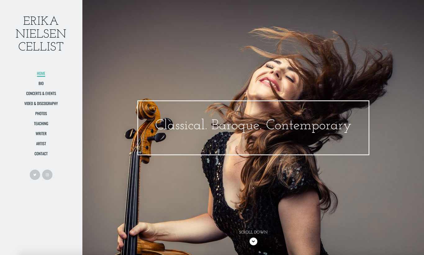 Music teacher website example