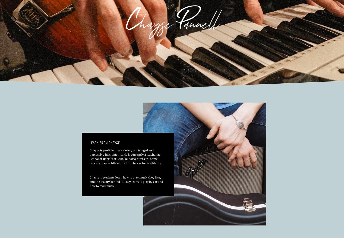 Music teacher website best examples