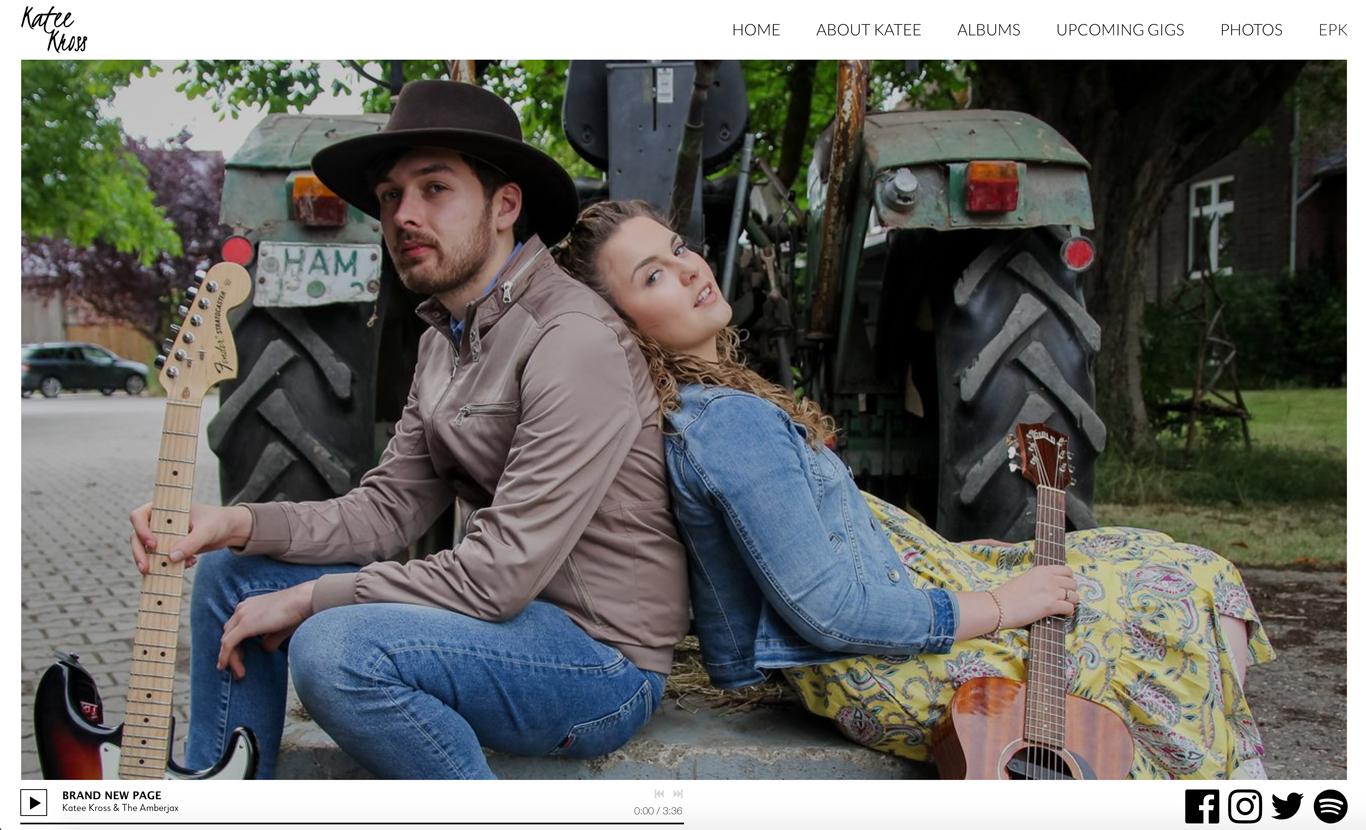 Music website template professional photos