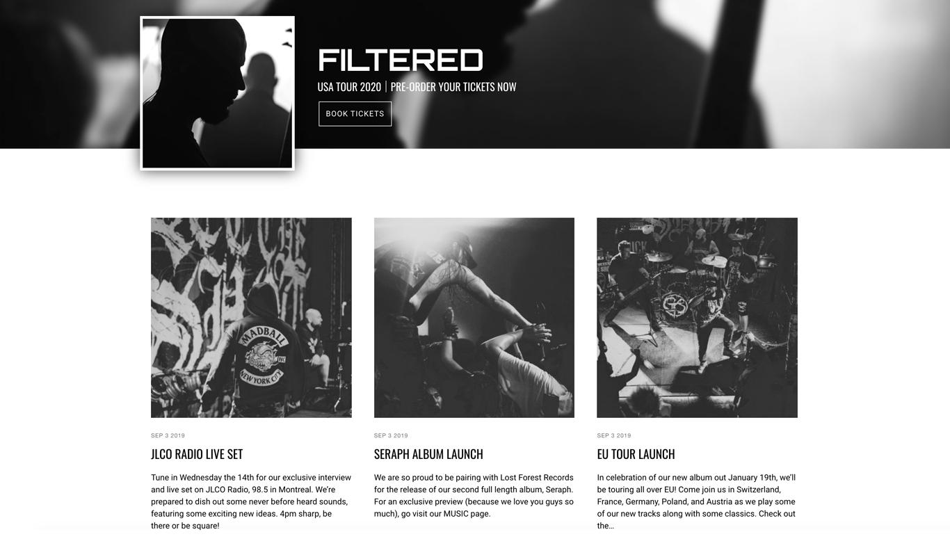 Website template music player