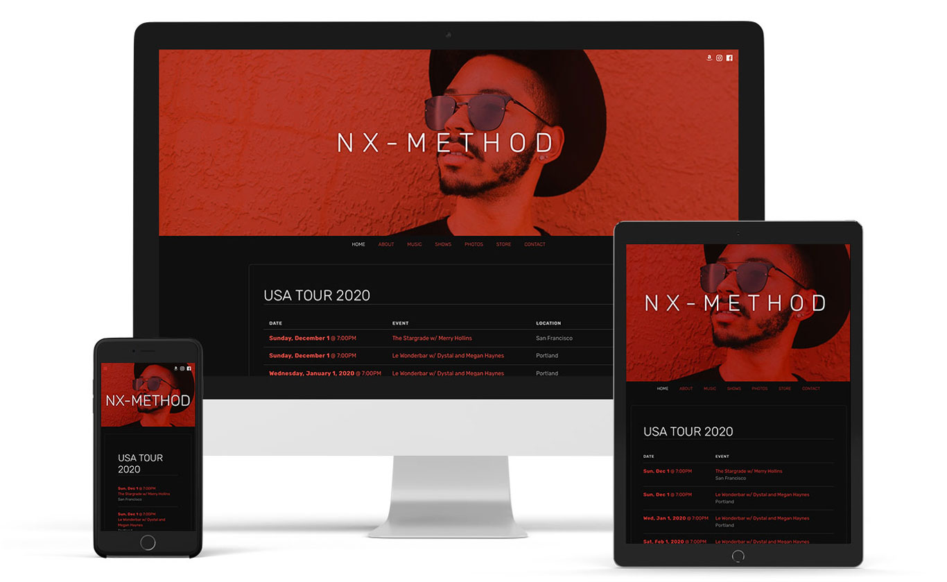 Sombre music website template