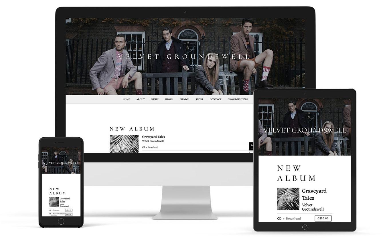 Elegant music website template