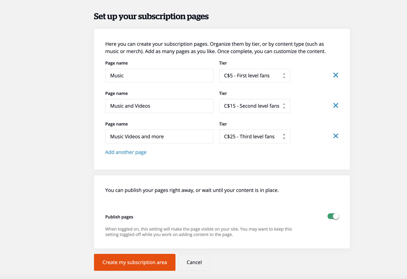 Add subscriptions seamlessly