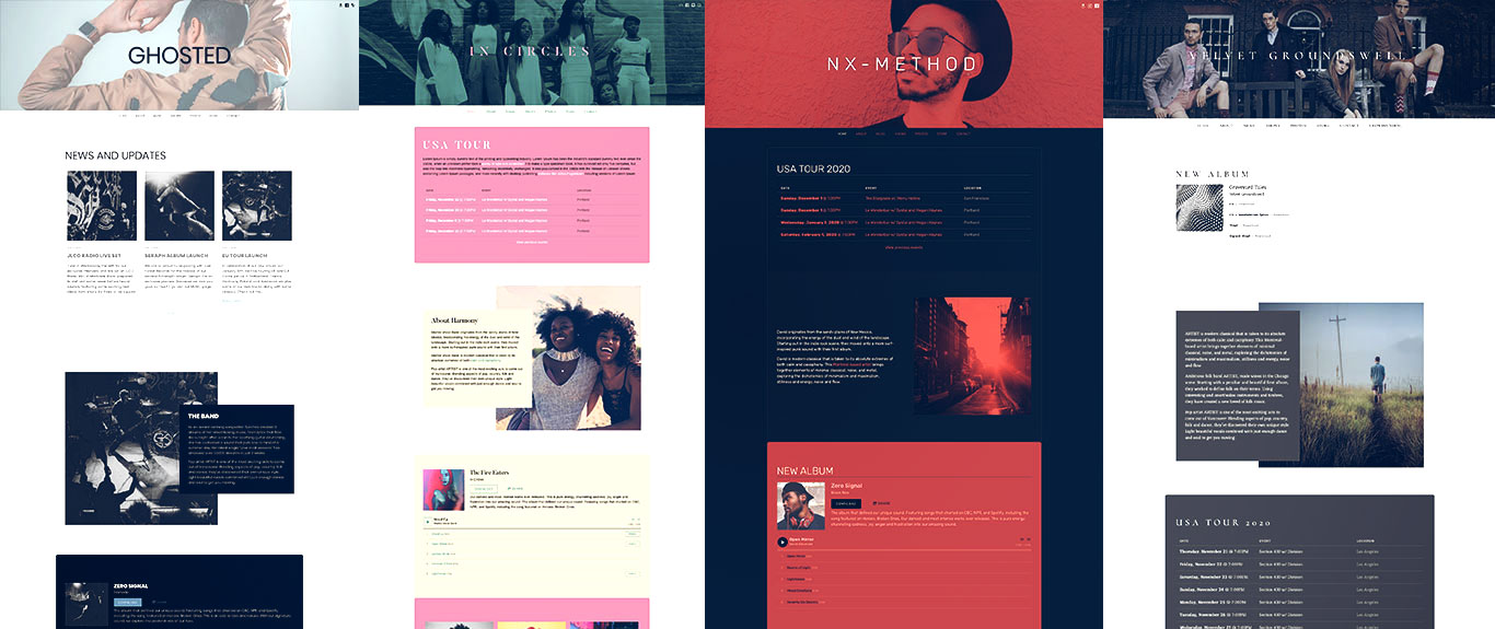 Music website template Ghost Note