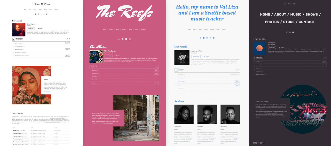 Music website template Tonic