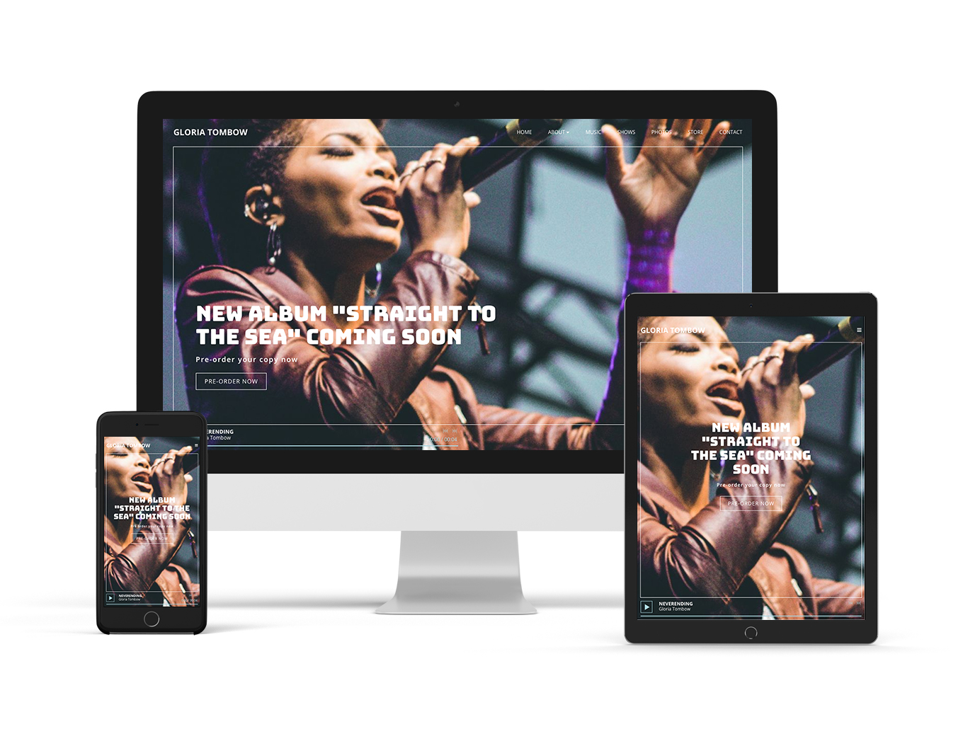 Music website template example Forte