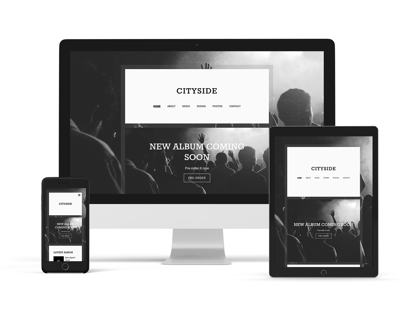 Music website template example Echo