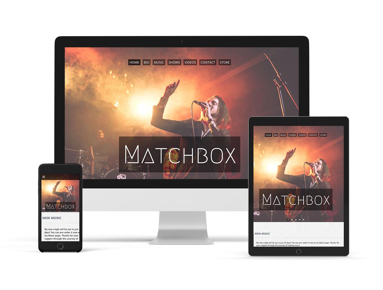 Music website template example Surround