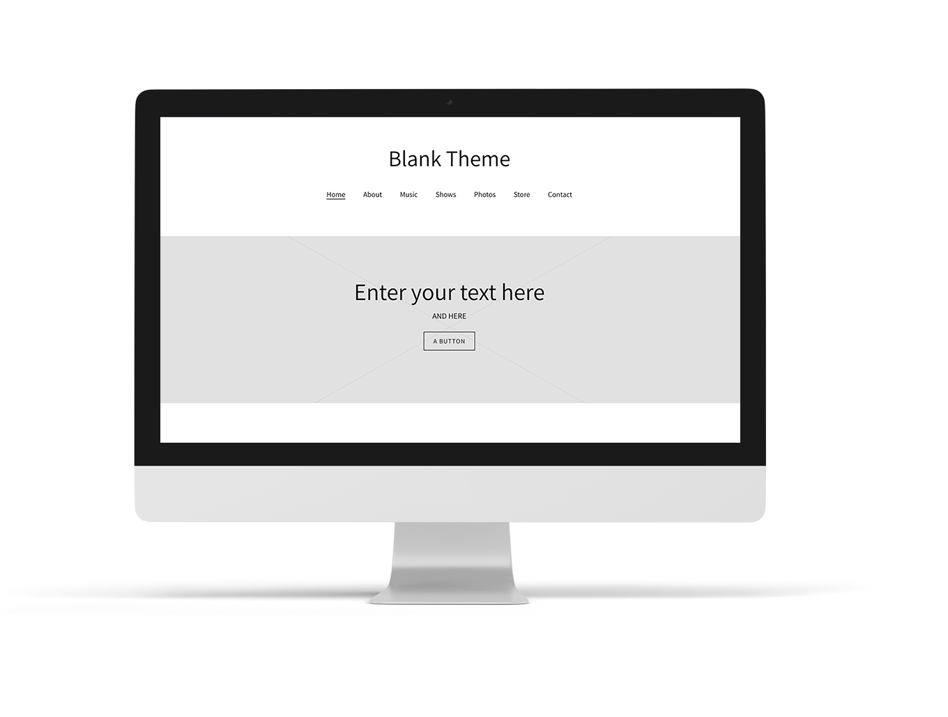 Music website example blank template