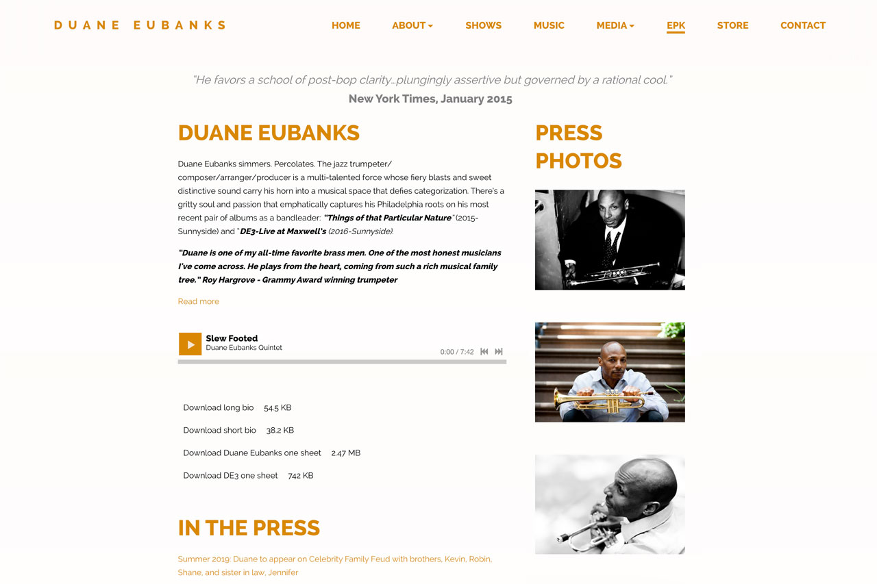 EPK example for musicians