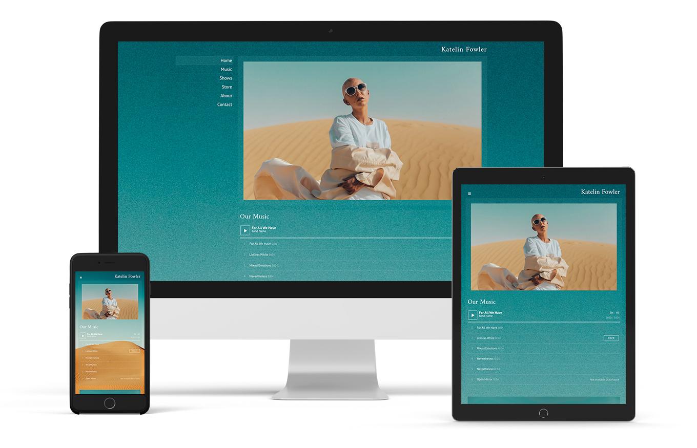 Music website template elegant