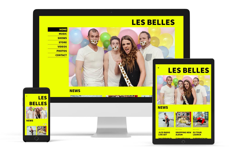 Music website template pop band