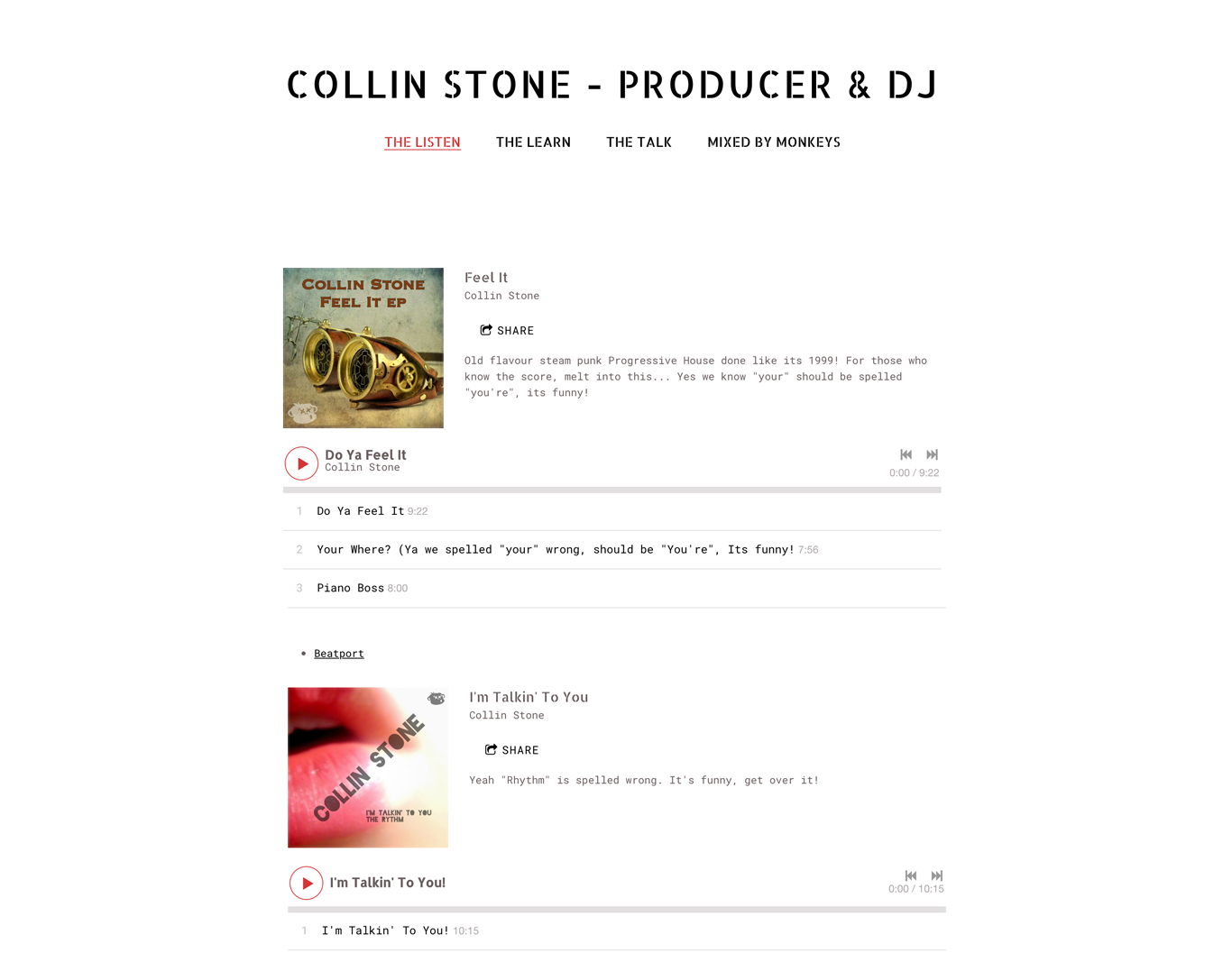 Build a DJ website with music