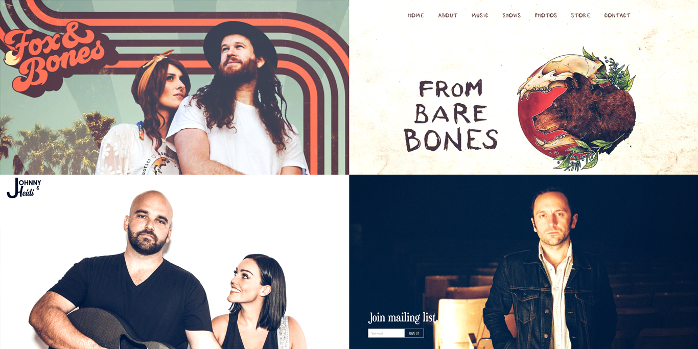 15 of the best music website designs