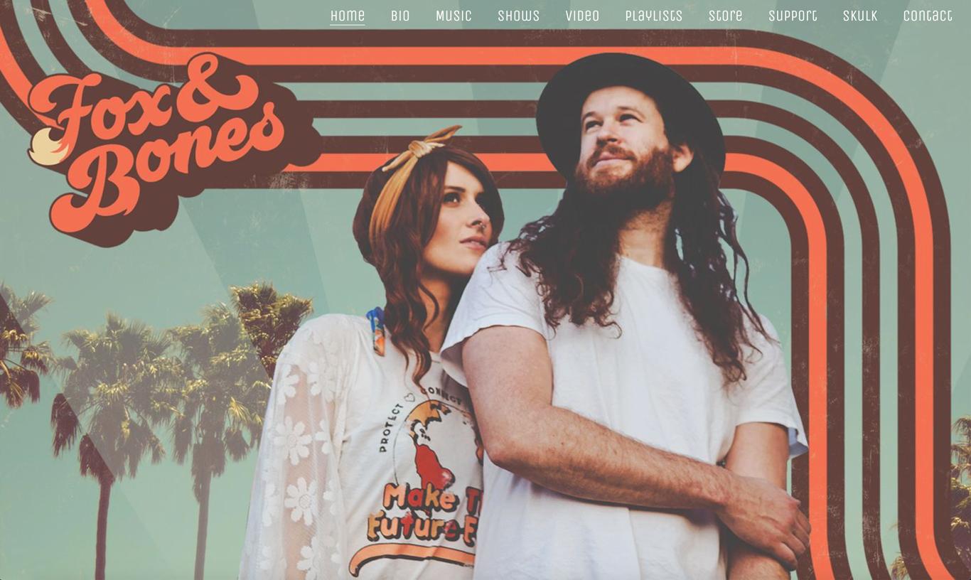 Best music website designs header example