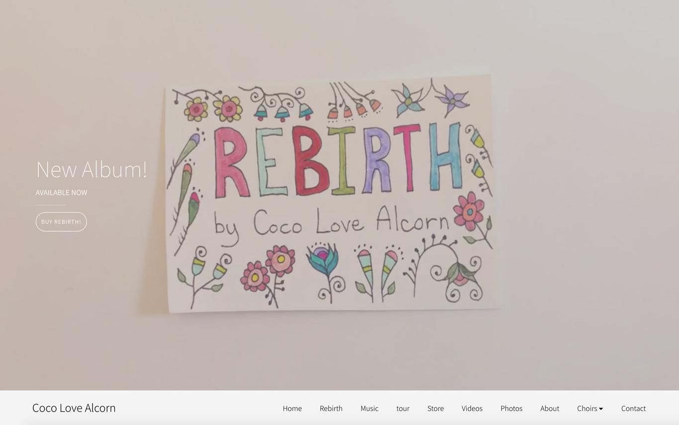 Best music website designs video header