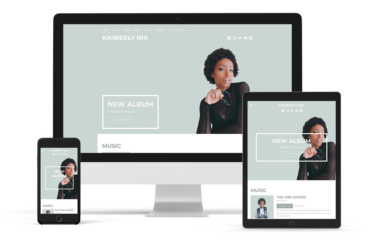 Elegant music website template: Entourage