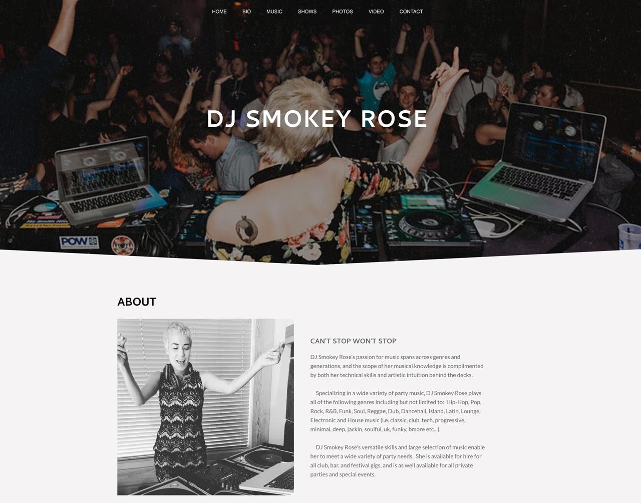 Website design inspiration: Smokey Rose