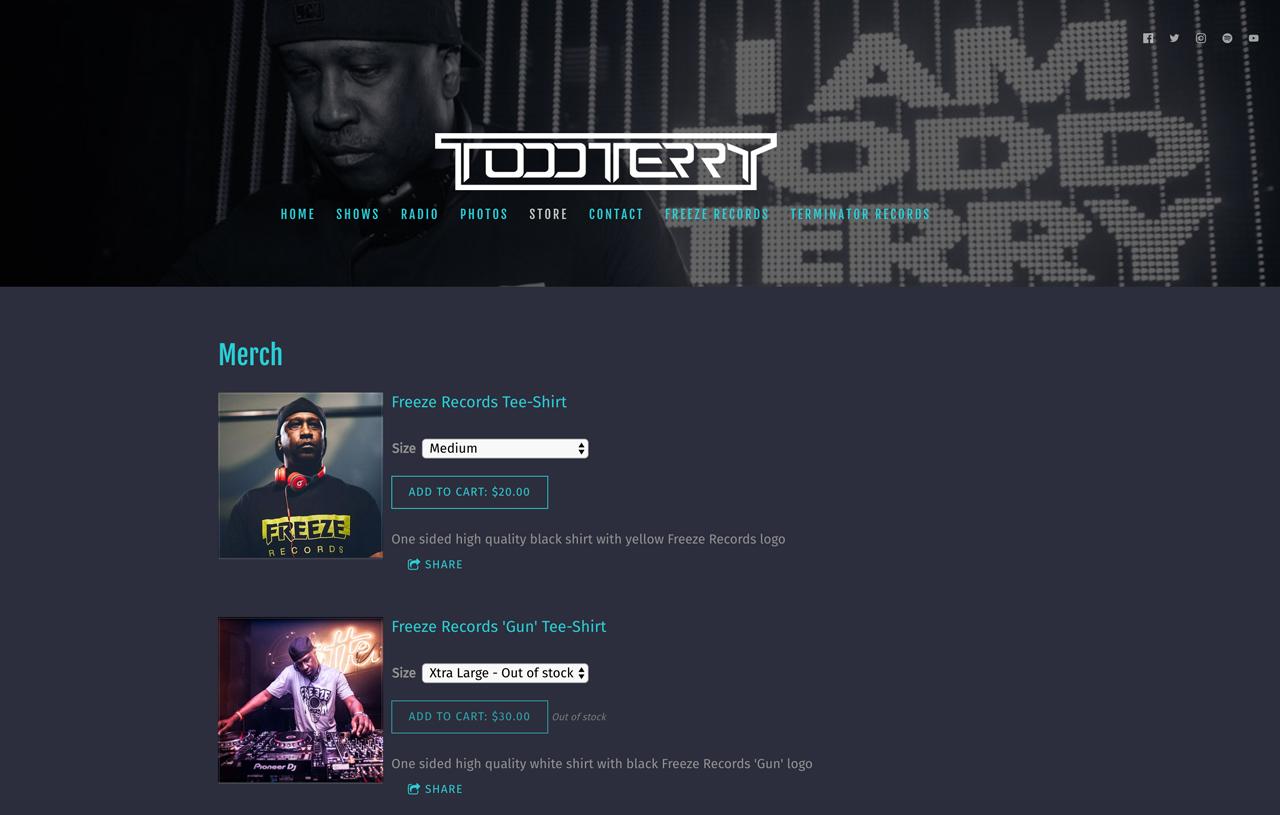 Best DJ websites: Todd Terry