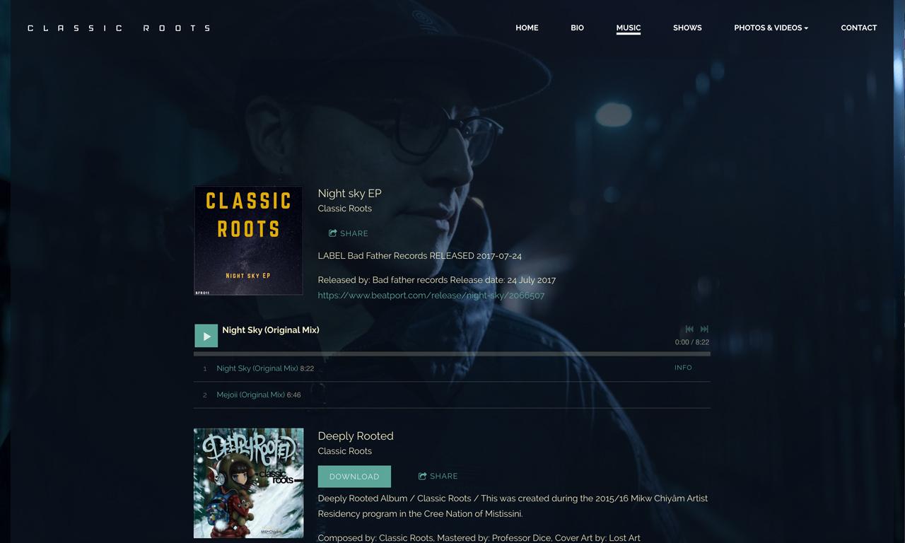 Best DJ websites: Classic Roots